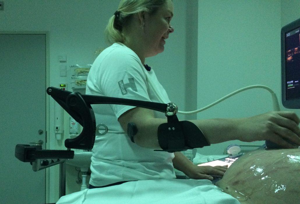 armstøtte til ultralyd