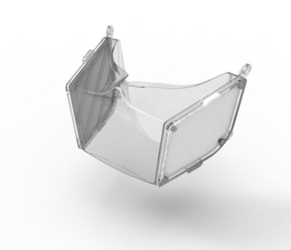 Transparent mundmaske i silikone til beskyttelse mod COVID-19